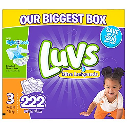 Luvs Diapers sz 3, 222 ct (Old Version) by Luvs
