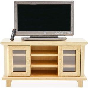 Odoria 1:12 Miniature TV and Cabinet with Remote Control Dollhouse Furniture Accessories