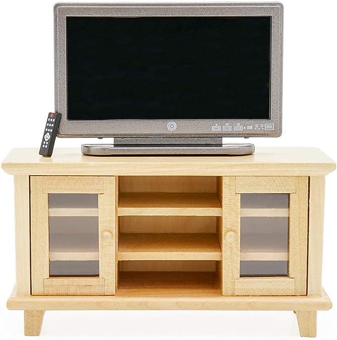 Amazon.es: Odoria 1/12 Miniatura Televisión y Mueble de TV Muebles para Casa de Muñecas: Juguetes y juegos