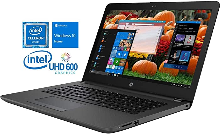 "HP 240 G6 14"" HD Notebook, Intel Dual-Core N4000 Upto 2.6GHz, 4GB RAM, 500GB HDD, VGA, HDMI, LAN, Card Reader, Wi-Fi, Bluetooth, Windows 10 Home"