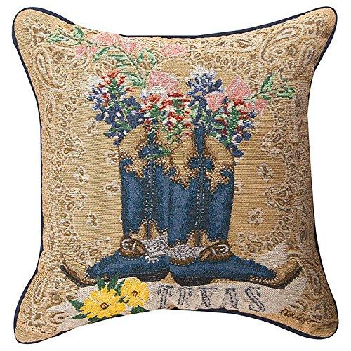 KensingtonRow Home Collection Throw Pillows - Texas Pride Tapestry Pillow - 17