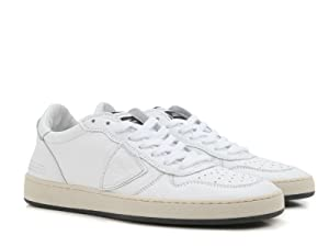 Philippe Model Women's White Calf Leather Sneakers Shoes - Size: 8 US