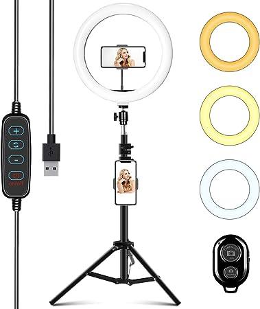 Todo para el streamer: Aro de Luz con Trípode 10