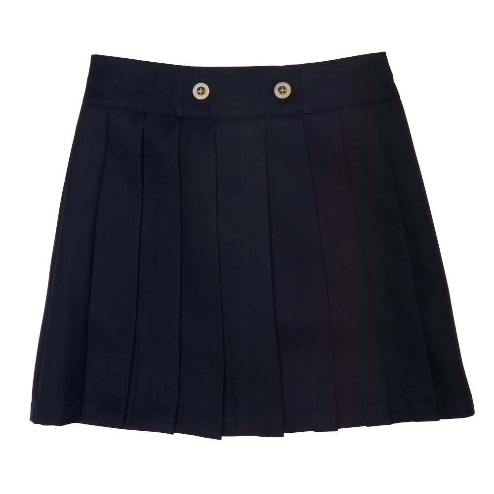 French Toast Girls' Little Front Button Pleated Scooter, Navy, 4