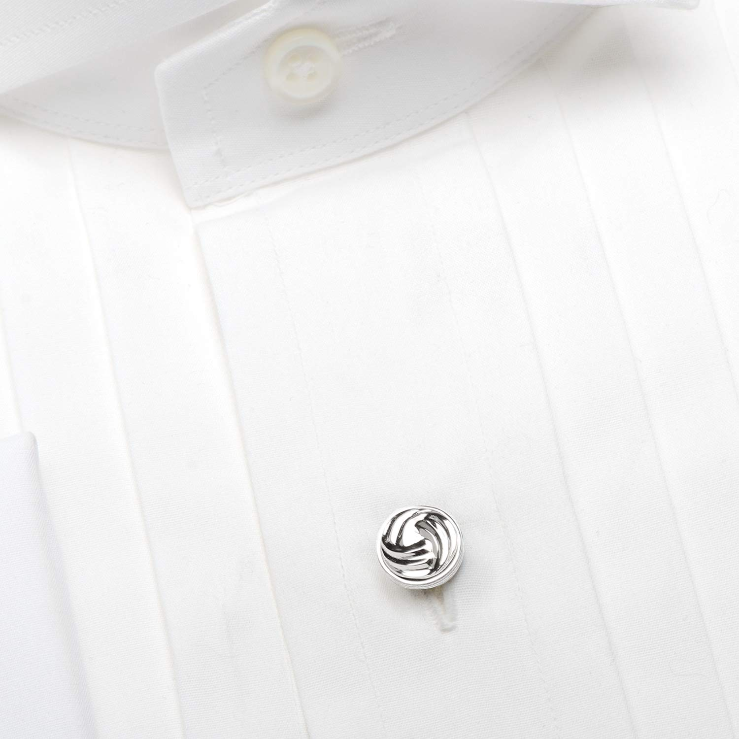 Ox and Bull Trading Co. Modern Knot Sterling Silver Studs by Ox and Bull Trading Company (Image #3)
