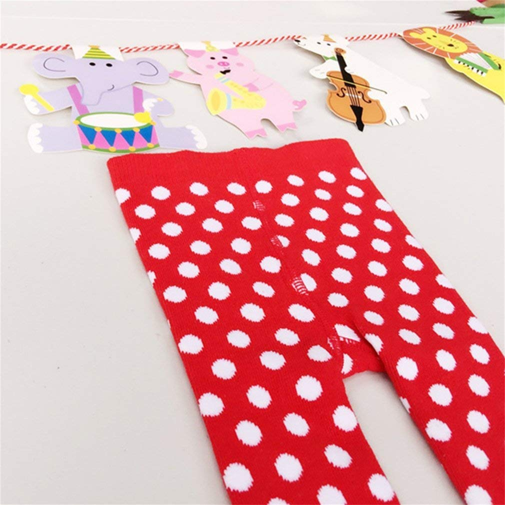 Tcplyn Premium Quality Spring Autumn Winter Baby Girls Bottoming Pants Soft and Comfortable Christmas Round Dot Pattern Lace Pantyhose