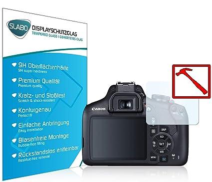 Slabo Lámina de Vidrio Premium para Canon EOS 2000D Lámina ...
