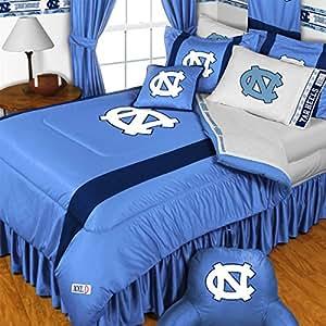 North Carolina Tar Heels 4 Pc Queen Comforter Set Comforter 2 Shams 1 Bedskirt