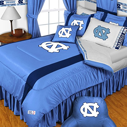 NCAA North Carolina Tarheels - 4pc BEDDING SET - Twin/Single Size by NCAA