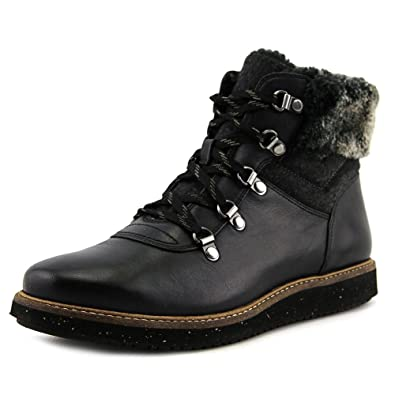 2f151cd372d Clarks Women's Glick Clarmont Hiking Boot, Black Buffalo Leather, US ...