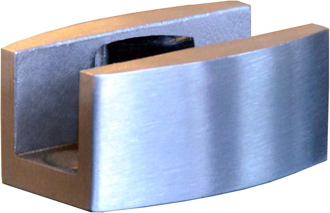 Schiebet/ürsystem ESG 900x2175x8mm Dekor S vollsatiniert; Edelstahl Laufrollensystem SoftStop; Griffmuschel BS-900DA-2