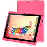 iRULU 7 inch Tablet Google Android 6.0 Quad Core 1024x600 Dual Camera Wi-Fi Bluetooth,1GB/8GB,Play Store Netfilix Skype 3D Game Supported GMS Certified (Pink)
