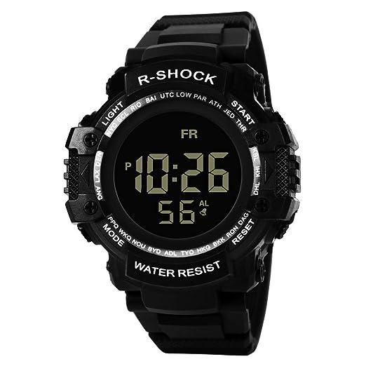 Dylung Reloj para Hombre Deportivo Reloj de Pulsera de Moda Smartwatch Relojes Popular de Unisex con Cuarzo Japonés Inteligente Digital Multifunciónal ...