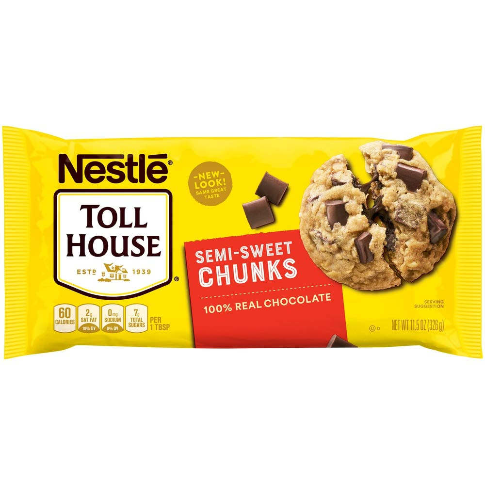 NESTLE TOLL HOUSE Semi-Sweet Chocolate Chunks 11.5 oz. Bag by Toll House