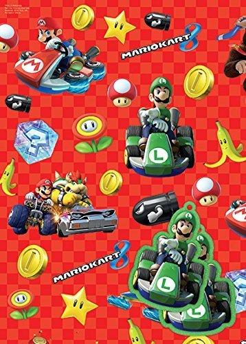 Mario Kart Gift Wrap & Tags X 2