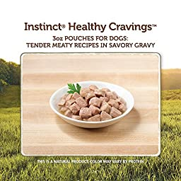 Nature\'s Variety Instinct Healthy Cravings Grain Free Tender Beef Recipe Meal Topper for Dogs, 3 oz. Pouches (Case of 24)