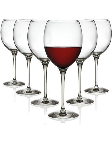 Tivoli Vasos de Vino Tinto Lyon - Set de 6-450 ml - Apto para