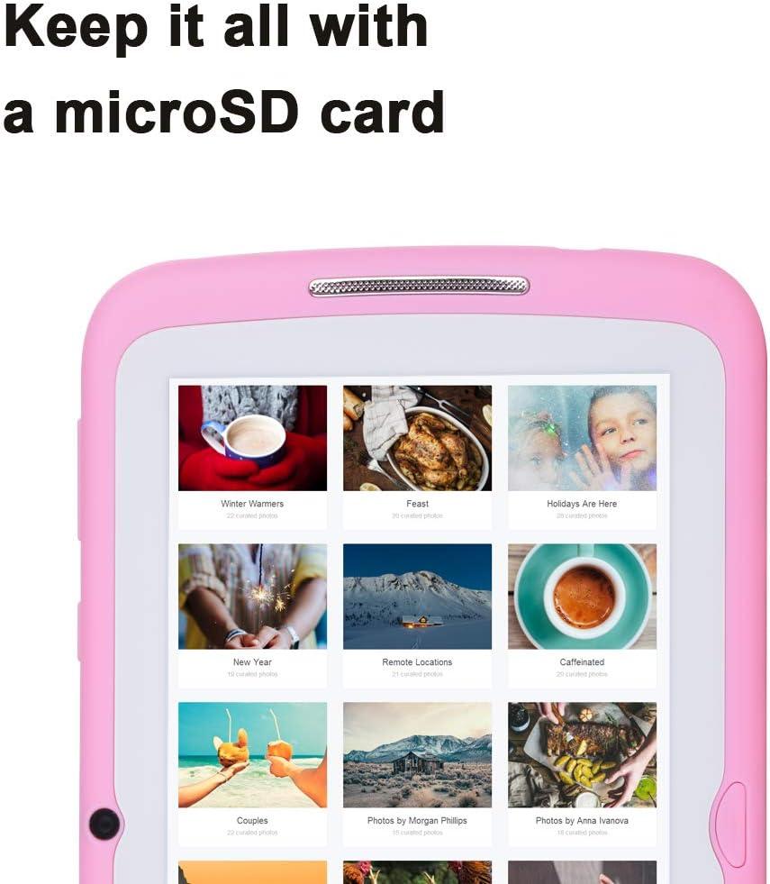 Double cam/éra avec /étui en Silicone WiFi Tablette Enfant 7 Pouces Android 7.1 OS iWawa Pre-Installed Bleu 8 Go de m/émoire Bluetooth