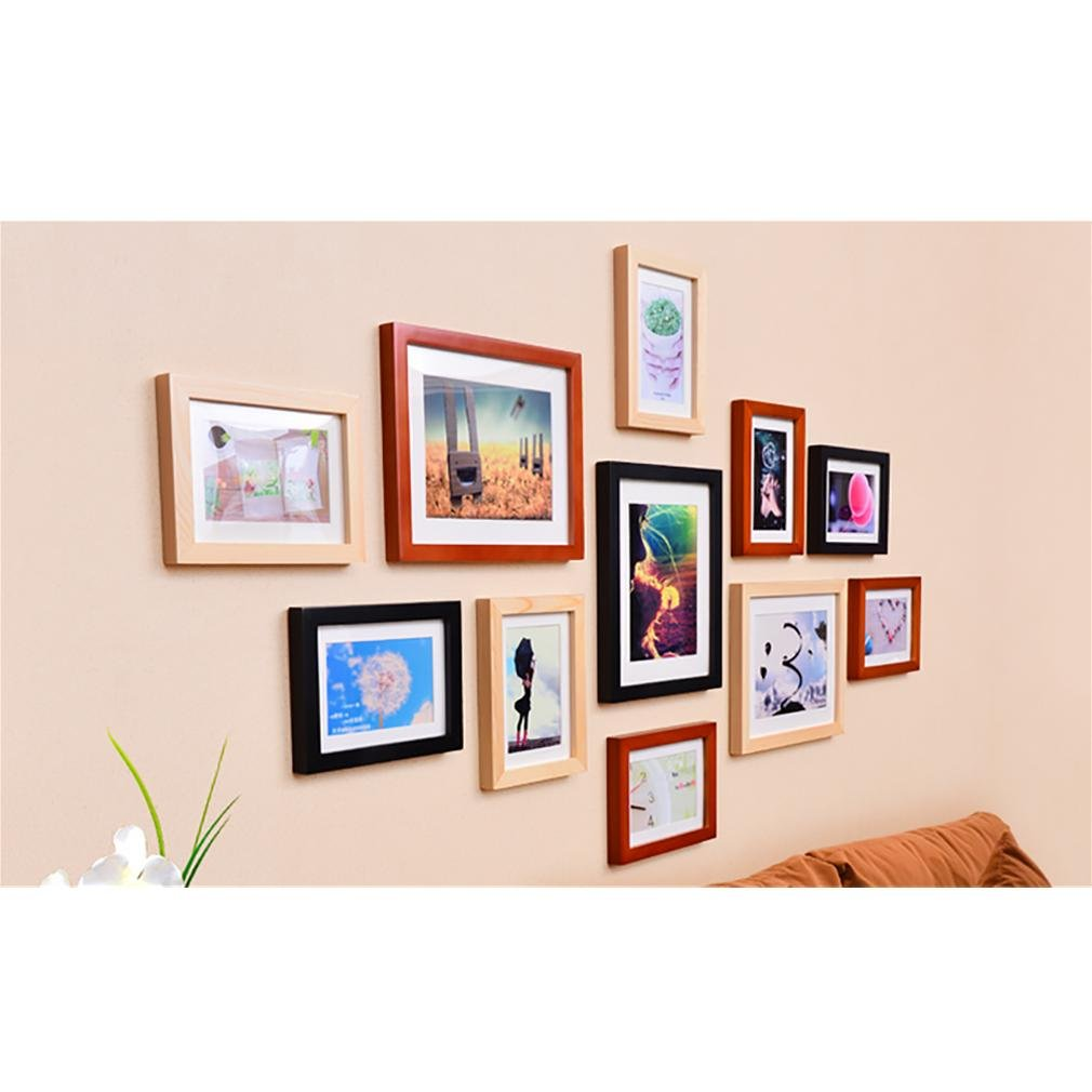WillST 11 Multi Aperture Photo Frame Wooden Set Modern Simplicity Style Creative Photo Wall , d by Unknown (Image #3)