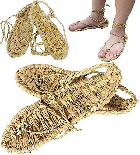 SPJ: Waraji Japanese Bleach Straw Sandals Anime Cosplay Accessory ()