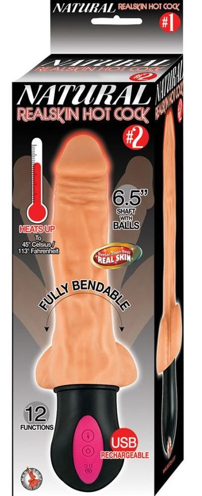 Nasstoys Natural Realskin Hot Cock No. 2, Flesh, 13.34 Ounce