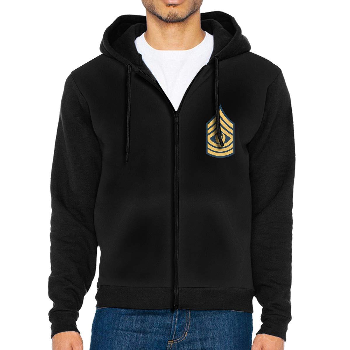 Sergeant Major of The Army Military Rank Mens Full-Zip Hoodie Jacket Pullover Sweatshirt