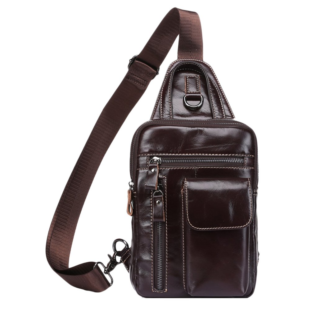 Zhuhaitf Mens Soft Waterproof Shoulder Bag Cross Body Bag Cellphone Pouch Sling