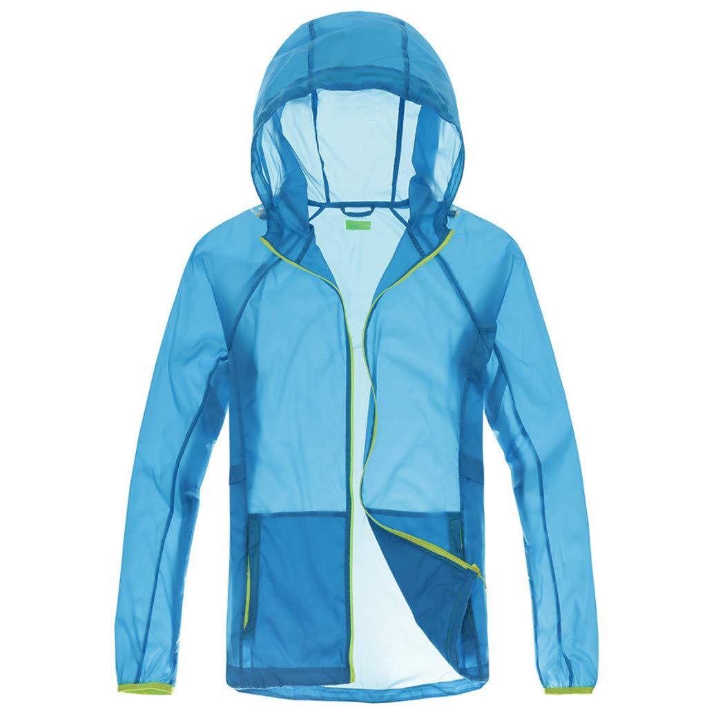 Qisc Unisex Rain Jacket Packable Outdoor Waterproof Hooded Pullover Raincoat