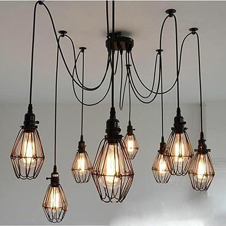 6 Cabezas DIY Lámpara de techo de bricolaje, SUN RUN Lámpara ...