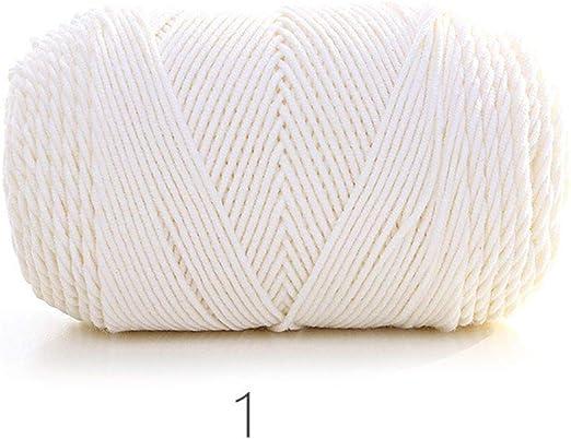 Hilo de algodón, Hilo Grueso de Ganchillo Suave para Tejer a Mano ...