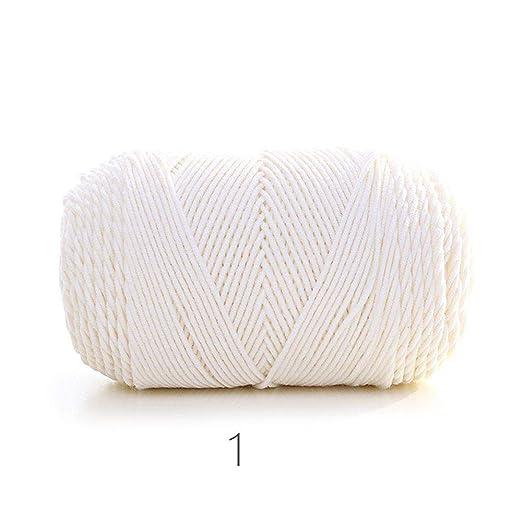 Hilo de algodón, Hilo Grueso de Ganchillo Suave para Tejer a ...
