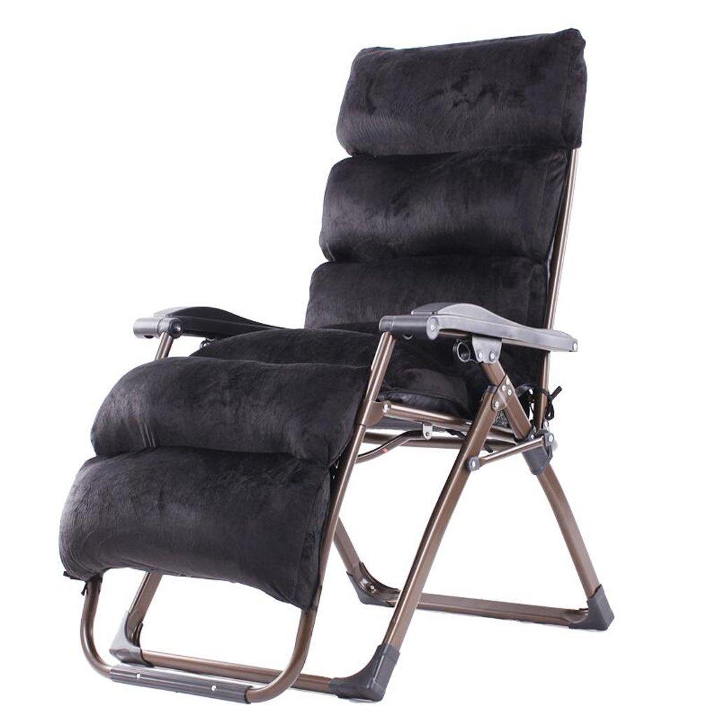 Xuan - Worth Having Schwarz Klappstuhl Mittagspause Liegestuhl Schlafsessel Freizeit Faule Sofa Stühle Für Ältere