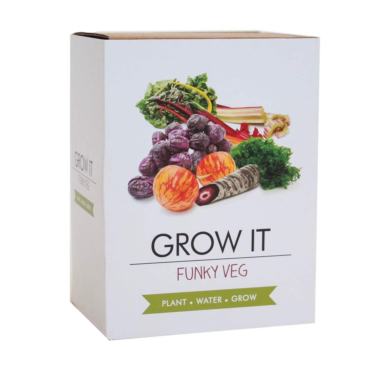 GROW IT Funky Gemü se - Geschenk - Anzuchtset Gift Republic