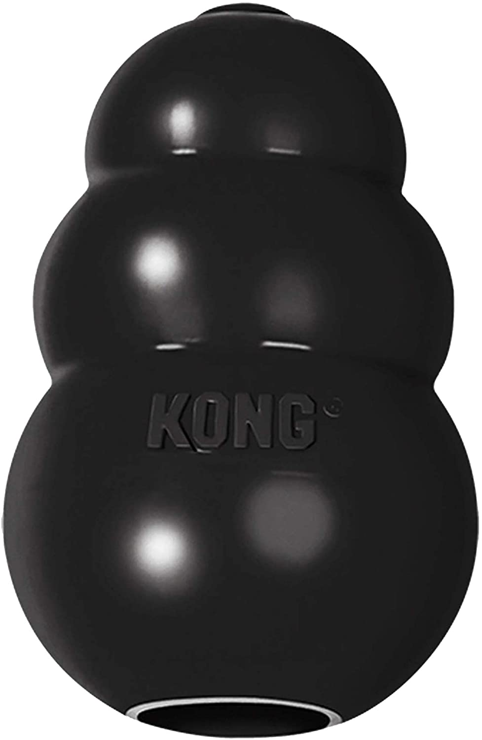 KONG - Extreme Dog Toy - Toughest Natural Rubber, Black - Fun to Chew, Chase and Fetch
