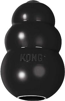 KONG Juguete de Robusto Caucho Natural Negro Libre de BPA