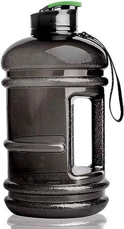 Bleu&Transparent COVACURE Bouteille deau de 2.2 L // 3.78 L r/éutilisable Bouteille deau de sport avec temps /à boire pour la gym voyage randonn/ée sans BPA formation Durable bureau et /école