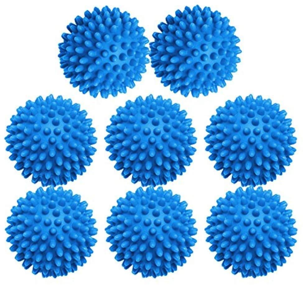 XIEHE Dryer Balls 8 Pack - 2.7 Inch Non-Toxic Reusable Dryer Balls