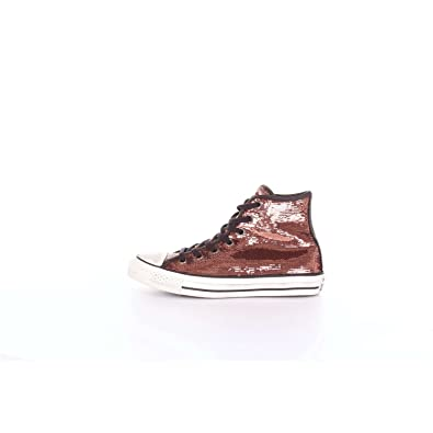 newest d65a2 ef070 CONVERSE 559039C Kupfer schwarze Schuhe Turnschuhe hohen Kupfer Pailletten  Schnürsenkel
