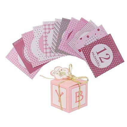 sharplace Cajas de regalo bolsas de regalo del paquete pasteles dulces cartón + Baby mensuales etiqueta