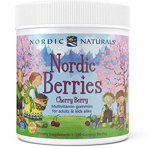 Natural Berry - Nordic Naturals Cherry Multivitamin Gummy - Chewable Vitamin For Children And Adults Provides Essential Vitamins And Nutrients For Immune System, Bone Health, Development & Overall Health, 120 Count