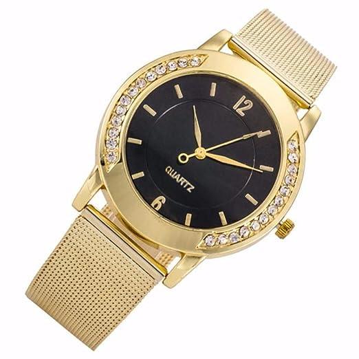 weant Moda Reloj para Mujer Original Reloj Chica Reloj de Pulsera Digital Cuarzo Reloj de Pulsera Acero Sliver Rosa Oro Elegante Brillantes Unisex C: ...
