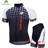 ZEROBIKE® Men Breathable Quick Dry Comfortable Short Sleeve Jersey + Padded Shorts Cycling Clothing Set Cycling Wear Clothes