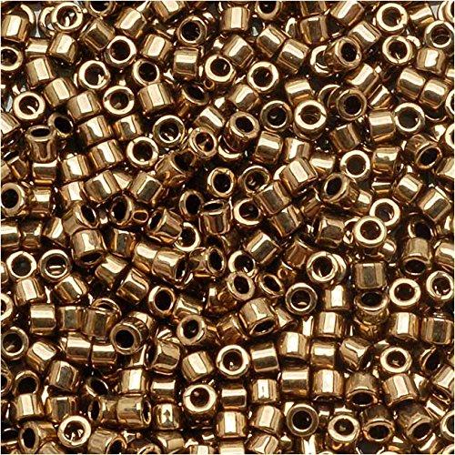 Bronze Metallic Beads (Miyuki Delica Seed Beads 15/0 Metallic Bronze DBS022 4 Grams)
