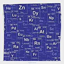 Vipsung Microfiber Ultra Soft Hand Towel-Periodic Table By Chemistry Elements In Abstract Style Science Classroom Backdrop Royal Blue And White For Hotel Spa Beach Pool Bath