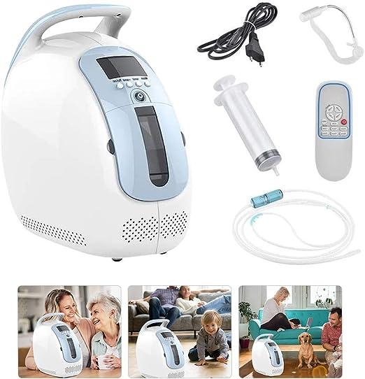 KKTECT Máquina de oxígeno Máquina de Suministro de oxígeno purificador de Aire Generador de oxígeno portátil Ajustable de 1-5 L/min Inicio Viaje Anciana Embarazada Uso Continuo por 24 Horas: Amazon.es: Hogar