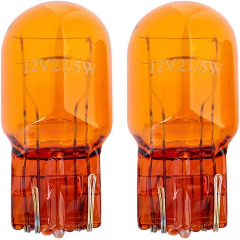 FANMURAN 2Pcs T20 L/ámpara Hal/ógena Cristal Luz Diurna Luz Intermitente Luz Parada Freno Tail Bombillas 7443 W21//5W