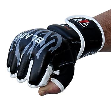 FOX-FIGHT Freefight MMA Handschuhe professionelle hochwertige Qualit/ät echtes Leder Boxhandschuhe Sandsack Training Sparring Muay Thai Kickbox Kampfsport BJJ Sandsackhandschuhe Gloves