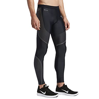 19e7bfd5bdfb Amazon.com  Nike Power Speed Flash Men s Running Tights (Large ...