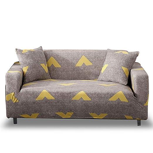 HOTNIU Funda Elástica de Sofá Funda Estampada para sofá Antideslizante Protector Cubierta de Muebles (4 Plazas, Impresión #Kk)