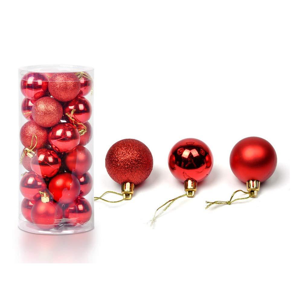 24pcs Natale Palla Opaco Glitter Albero Decorazioni Matrimonio Partito Casa Ornamento Natalizie Balls Pendente (Verde, 8.8*6*11.8cm) Jimmackey